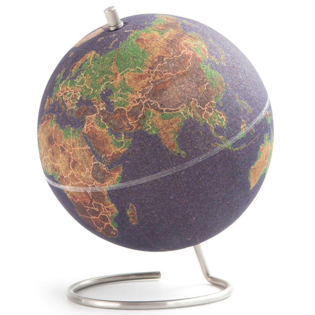 Пробковый мини-глобус Mini Cork Globe цветной