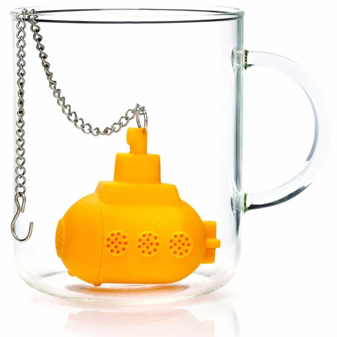 Заварник для чая Подводная лодка (Желтый) В пустой кружке