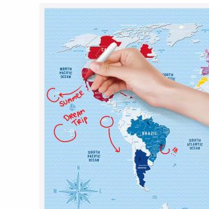 Скретч-карта мира Travel Map Silver World (на английском)