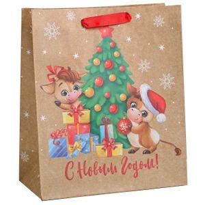 Подарочный пакет С Новым Годом Быки