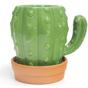 Кружка с блюдцем Кактус Cactus