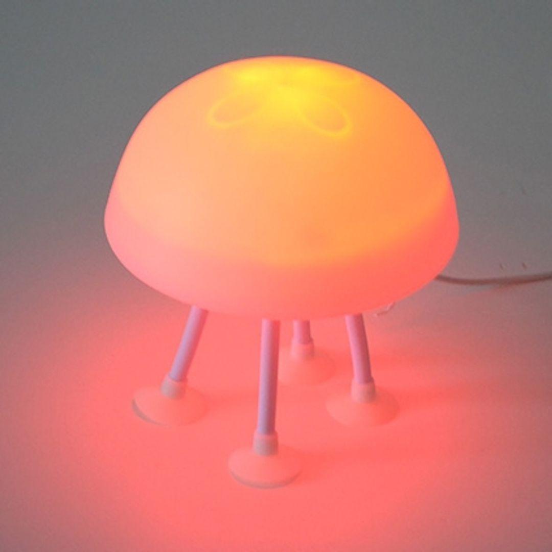 Светильник Медуза на присосках Красная подсветка