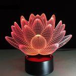 3D Лампа Лотос