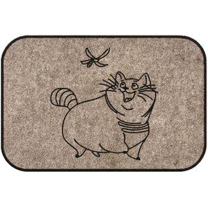 Коврик для входной двери Кот и стрекоза