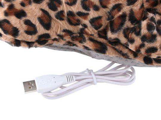 Тапок с подогревом от USB Лапа Леопарда