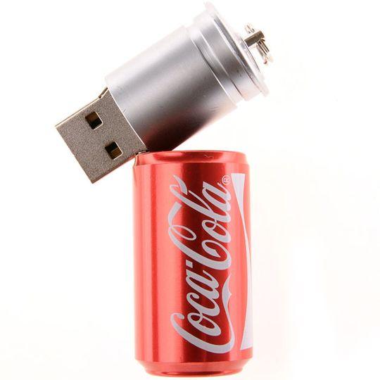 Флешка Банка Coca-Cola 8 Гб Вынутая из футляра