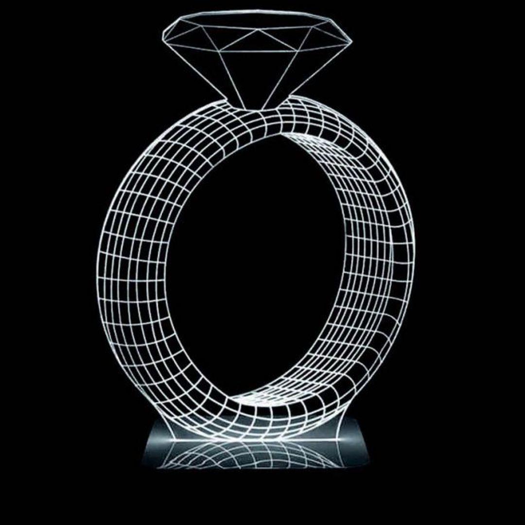 3D Лампа Кольцо