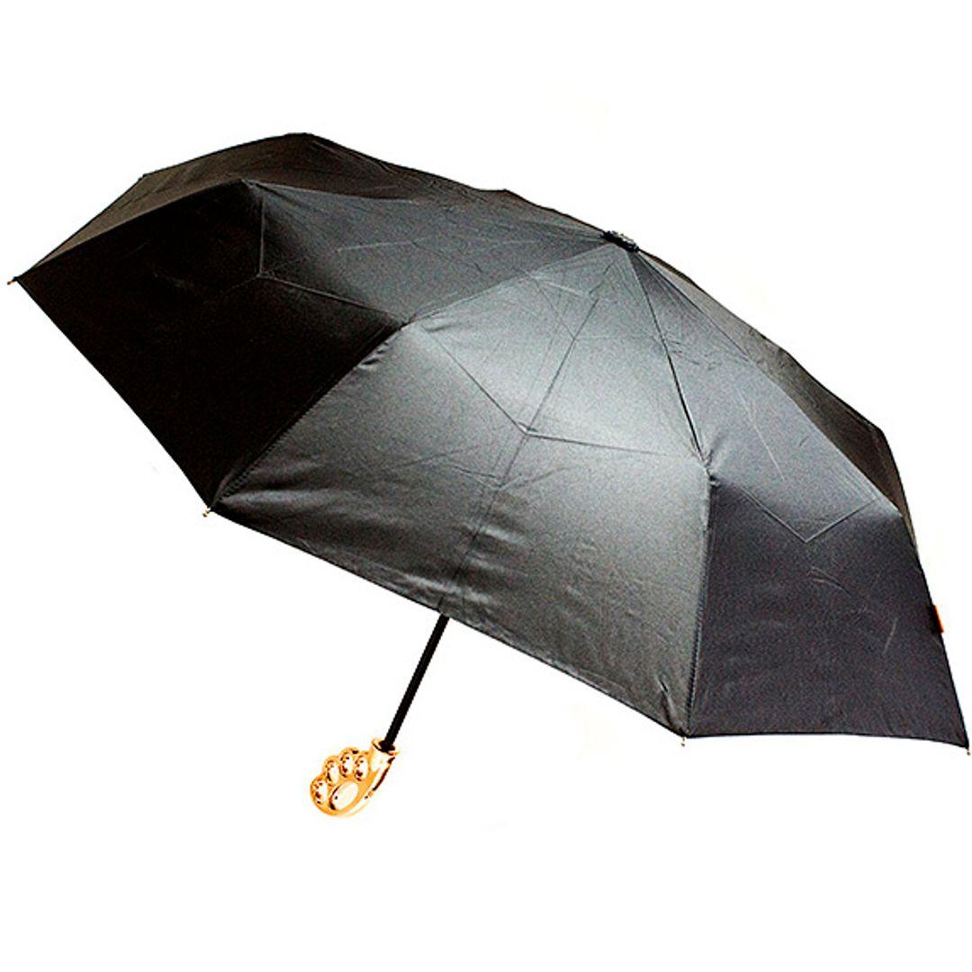 Зонт Кастет Fist Umbrella (Золотистая ручка) Открытый
