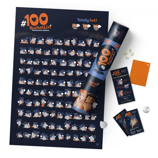 Скретч-постер 100 поз Kamasutra edition
