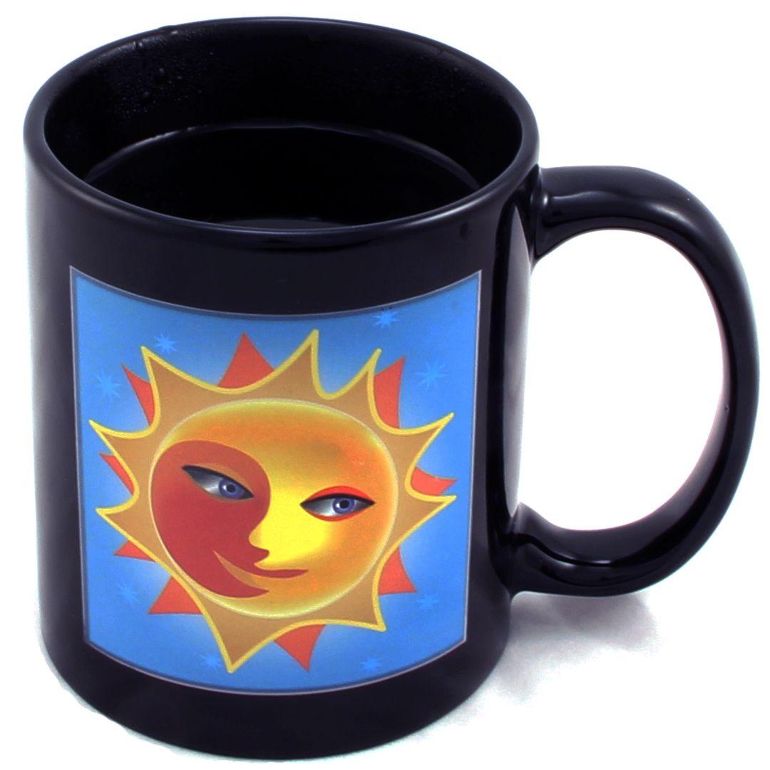 Термокружка Солнце и луна Sun & Moon Mug В нагретом виде