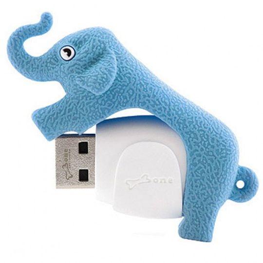 Флешка Слон Голубой 2 Гб
