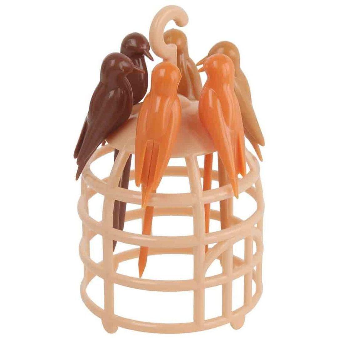 Шпажки для канапе Птички в клетке