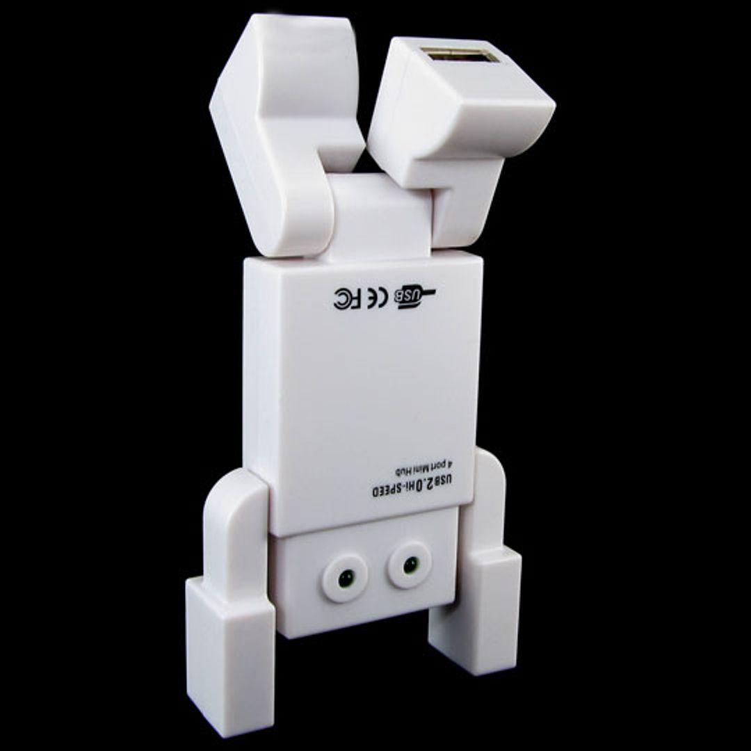 USB Хаб Робот белый