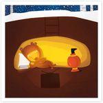 Открытка Уютная зимовка медведя