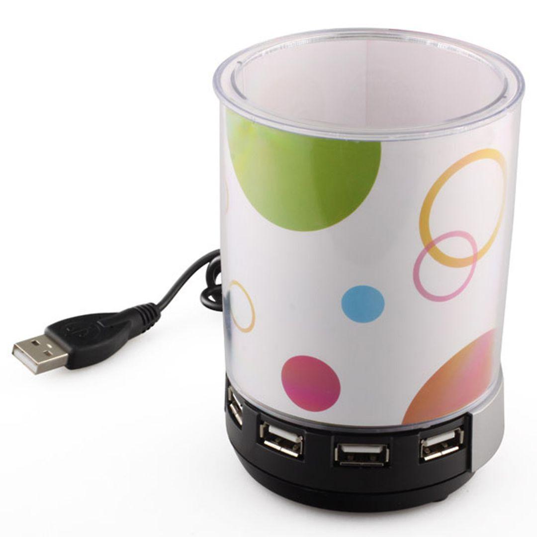 USB Хаб Подставка для карандашей с динамиком