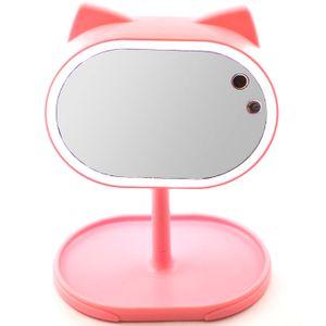 Косметическое зеркало с подсветкой Кошечка