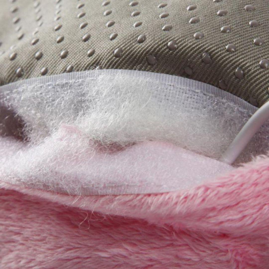 USB Грелка для ног Тофу розовый