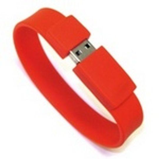 Флешка Браслет Красный 4 Гб