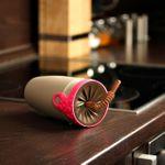 Стакан Непроливайка с трубочкой Spin Cup (Розовый с коричневым)