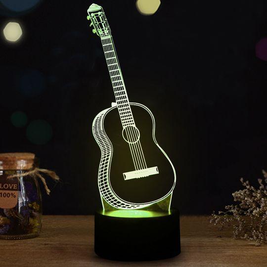 3D Лампа Гитара