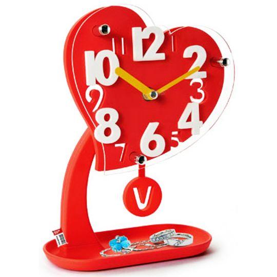 Настольные часы Сердце с маятником