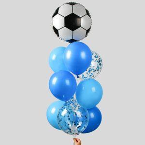 Фонтан из шаров Футбол с конфетти (10 шаров)