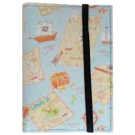 Обложка для паспорта Pirate Map Фиксируется сверху резинкой