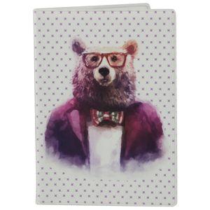 Обложка для паспорта Bear Hipster