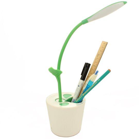Лампа Органайзер Цветок (Салатовый) С ручками и карандашами
