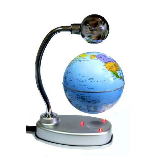 Левитирующий глобус над подставкой 8 см