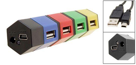 USB Хаб Разноцветные кубики