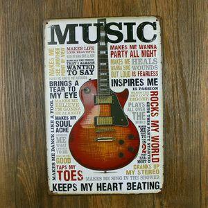 Металлическая табличка Music Keeps My Heart Beating