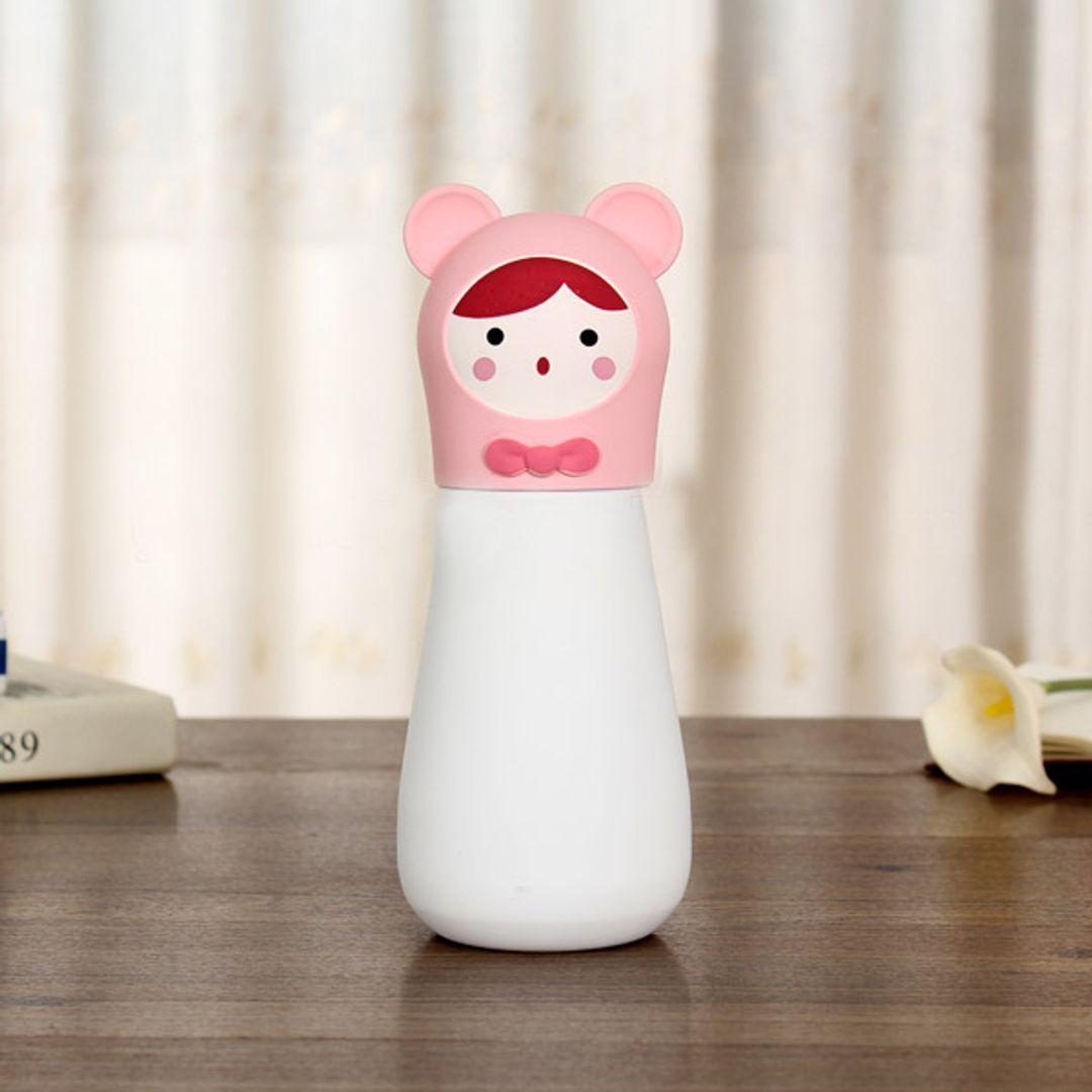 Кружка-термос Мишка Bear (Белый с розовым)
