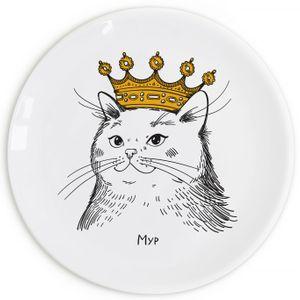 Тарелка Кошка в короне Мур