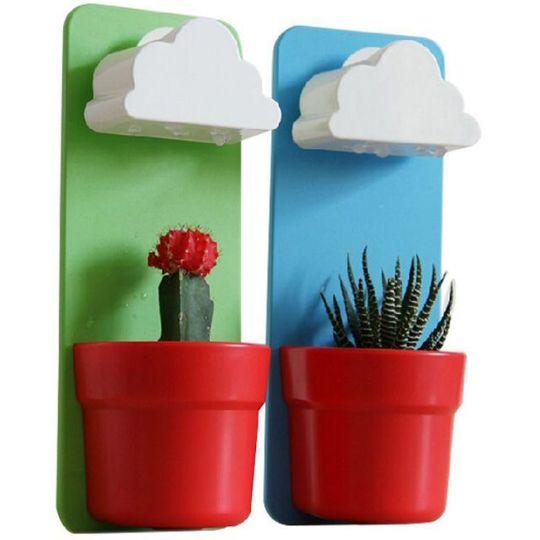 Цветочный горшок с поливом Облако Rainy Cloud (Красный)