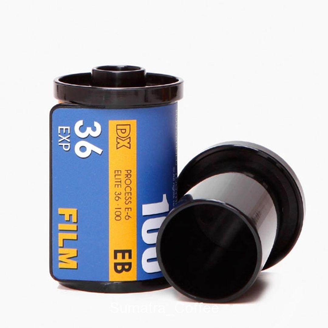 Баночка для зубочисток Фотопленка (Синяя) Подставка и крышка