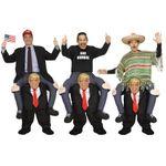 Костюм-наездник верхом Дональд Трамп