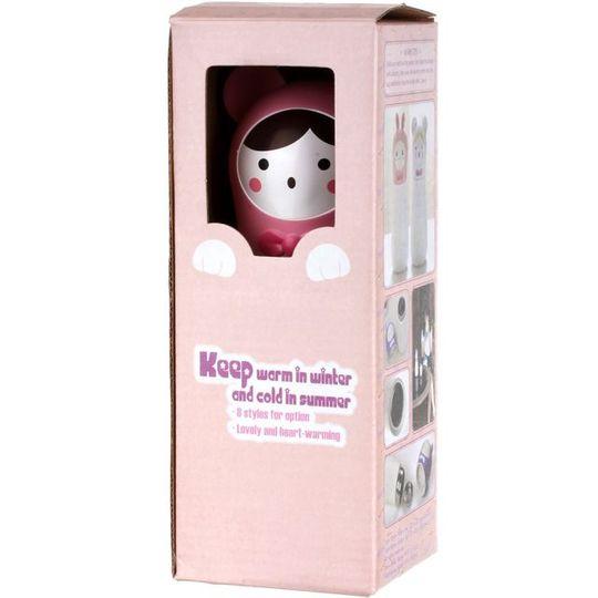 Кружка-термос Мишка Bear (Белый с розовым) Упаковка