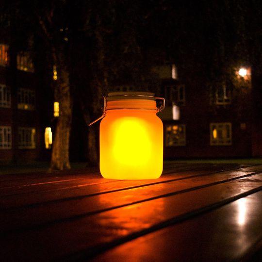 Светящаяся банка на солнечной батарее Sun Jar (Желтый)