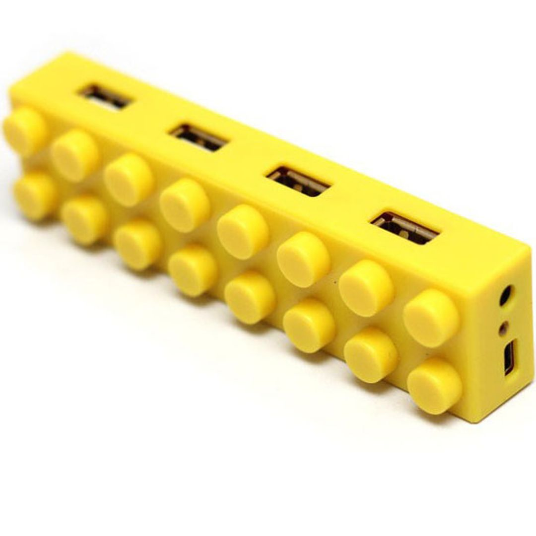 USB Хаб Лего (Желтый)