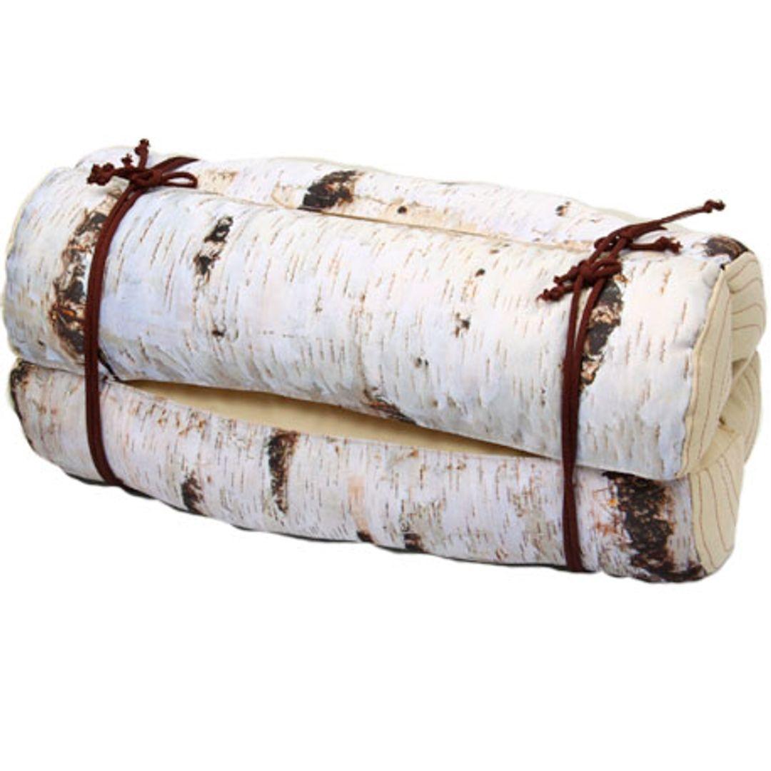 Подушка на стул Березовые поленья В свернутом виде