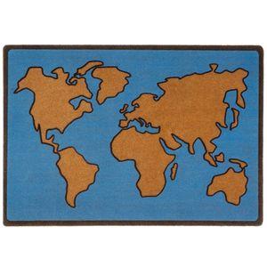Коврик для входной двери World Map