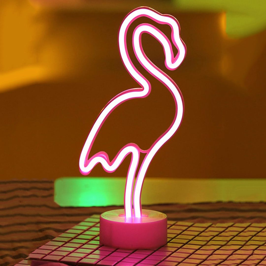 Неоновый светильник Фламинго