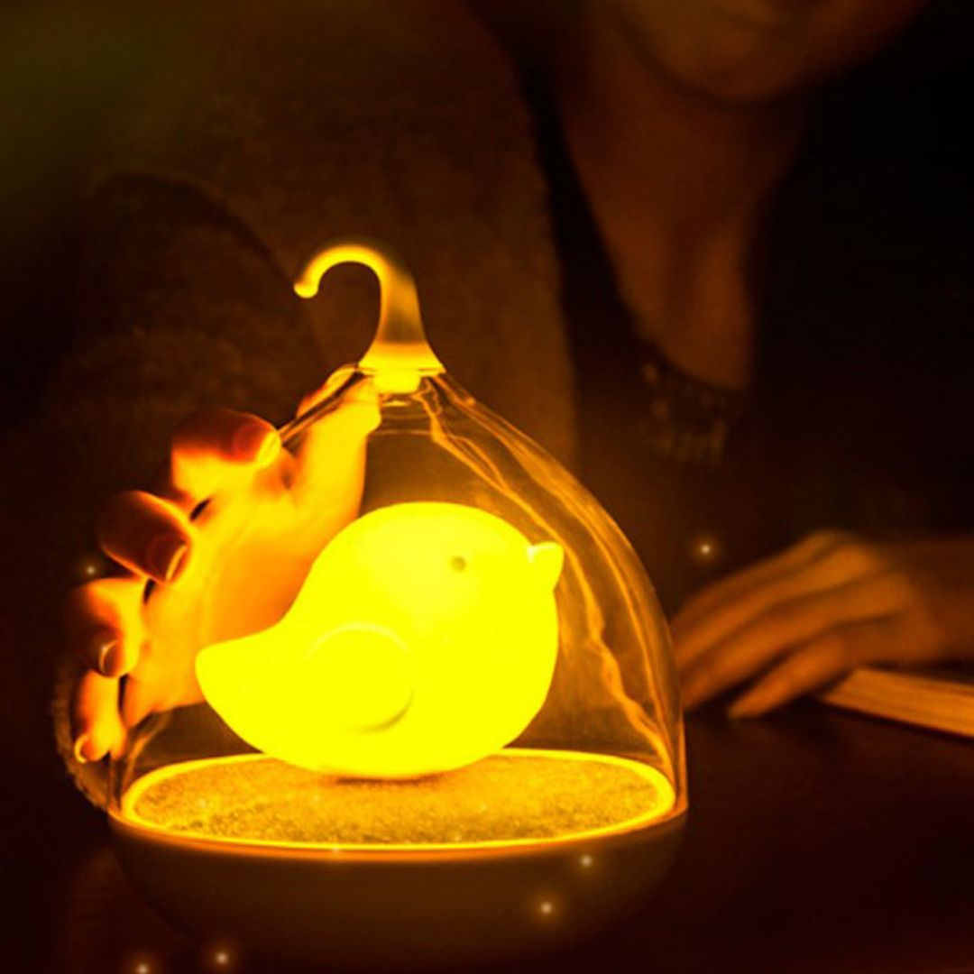 USB Лампа Птичка (Желтая)