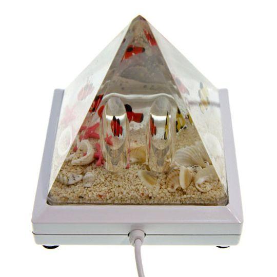 USB Хаб Пирамида с рыбками Белая