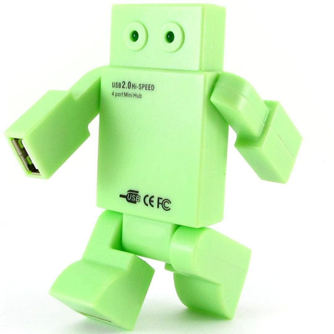 USB Хаб Робот салатовый