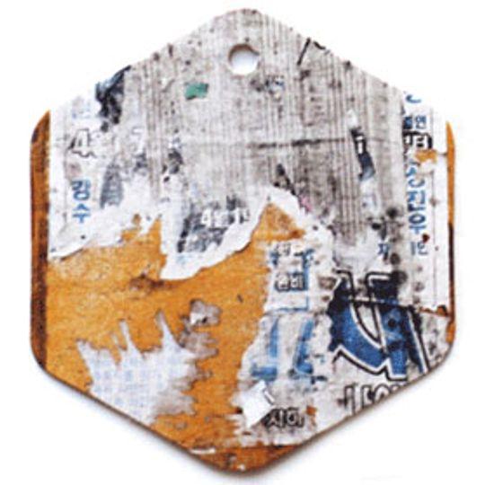 Бирка упаковочная Граффити — шестигранник