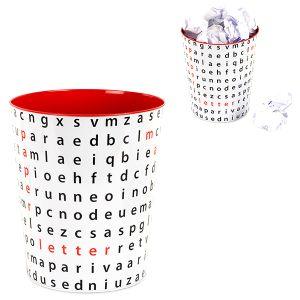 Корзина для бумаг Letter Soup