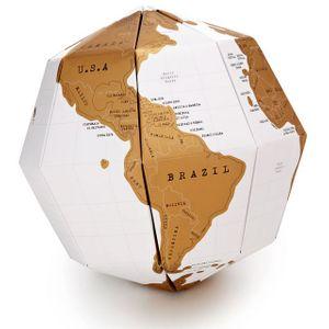 Скретч-карта мира Глобус Scratch Globe (на английском)