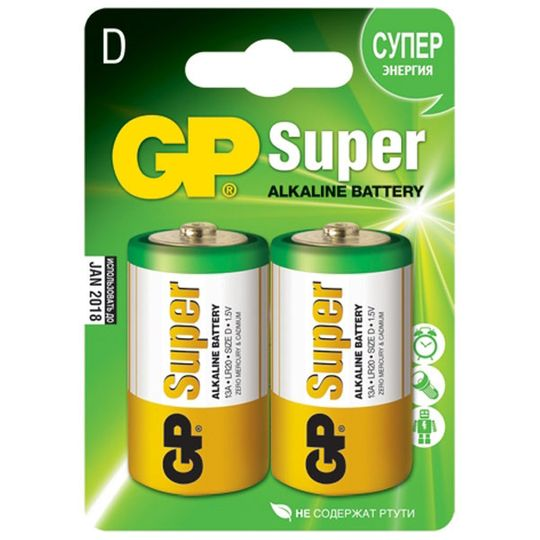 Батарейка GP Super Alkaline D (LR20)